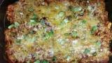Chicken zucchini enchiladacasserole
